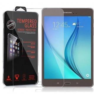 Cadorabo Panzer Folie für Samsung Galaxy Tab A (9, 7 Zoll) - Schutzfolie in KRISTALL KLAR - Gehärtetes (Tempered) Display-Schutzglas in 9H Härte mit 3D Touch Kompatibilität