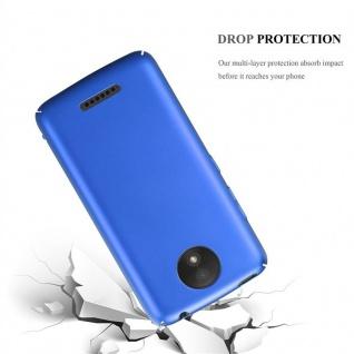 Cadorabo Hülle für Motorola MOTO C PLUS in METALL BLAU - Hardcase Handyhülle aus Plastik gegen Kratzer und Stöße - Schutzhülle Bumper Ultra Slim Back Case Hard Cover - Vorschau 3