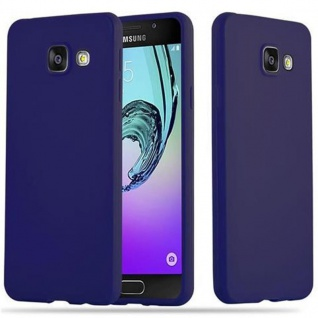Cadorabo Hülle für Samsung Galaxy A3 2016 in CANDY DUNKEL BLAU - Handyhülle aus flexiblem TPU Silikon - Silikonhülle Schutzhülle Ultra Slim Soft Back Cover Case Bumper