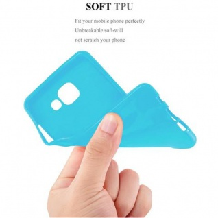 Cadorabo Hülle für Samsung Galaxy A3 2016 in JELLY HELL BLAU ? Handyhülle aus flexiblem TPU Silikon ? Silikonhülle Schutzhülle Ultra Slim Soft Back Cover Case Bumper - Vorschau 5