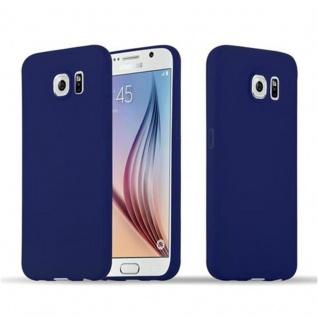 Cadorabo Hülle für Samsung Galaxy S6 in CANDY DUNKEL BLAU - Handyhülle aus flexiblem TPU Silikon - Silikonhülle Schutzhülle Ultra Slim Soft Back Cover Case Bumper
