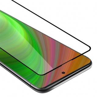 Cadorabo Vollbild Panzer Folie für Samsung Galaxy A91 Schutzfolie in TRANSPARENT mit SCHWARZ Gehärtetes (Tempered) Display-Schutzglas in 9H Härte mit 3D Touch
