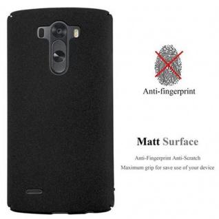 Cadorabo Hülle für LG G3 in FROSTY SCHWARZ - Hardcase Handyhülle aus Plastik gegen Kratzer und Stöße - Schutzhülle Bumper Ultra Slim Back Case Hard Cover - Vorschau 2