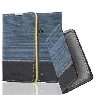 Cadorabo Hülle für Nokia Lumia 625 in DUNKEL BLAU SCHWARZ - Handyhülle mit Magnetverschluss, Standfunktion und Kartenfach - Case Cover Schutzhülle Etui Tasche Book Klapp Style - Vorschau 1