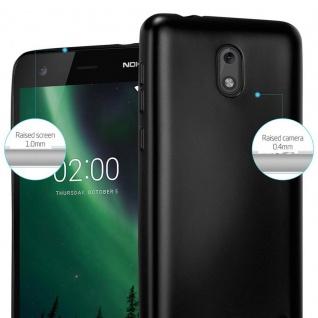 Cadorabo Hülle für Nokia 2 2017 in METALLIC SCHWARZ - Handyhülle aus flexiblem TPU Silikon - Silikonhülle Schutzhülle Ultra Slim Soft Back Cover Case Bumper - Vorschau 4