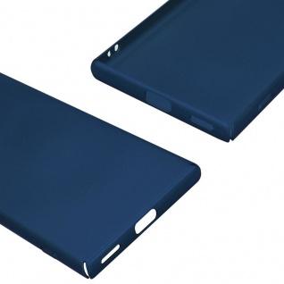 Cadorabo Hülle für Sony Xperia XA1 in METALL BLAU - Hardcase Handyhülle aus Plastik gegen Kratzer und Stöße - Schutzhülle Bumper Ultra Slim Back Case Hard Cover - Vorschau 5
