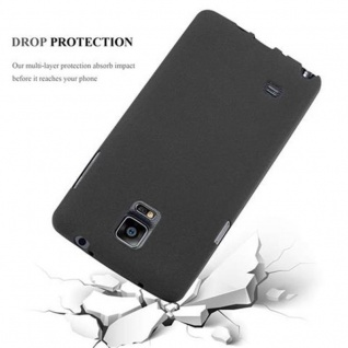 Cadorabo Hülle für Samsung Galaxy NOTE 4 in FROST SCHWARZ - Handyhülle aus flexiblem TPU Silikon - Silikonhülle Schutzhülle Ultra Slim Soft Back Cover Case Bumper - Vorschau 5