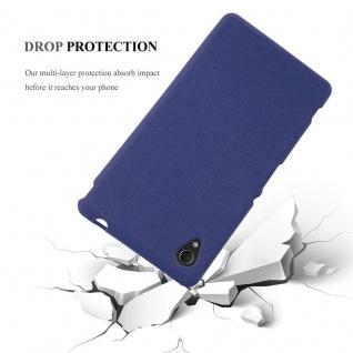 Cadorabo Hülle für Sony Xperia M4 AQUA in FROST DUNKEL BLAU - Handyhülle aus flexiblem TPU Silikon - Silikonhülle Schutzhülle Ultra Slim Soft Back Cover Case Bumper - Vorschau 4