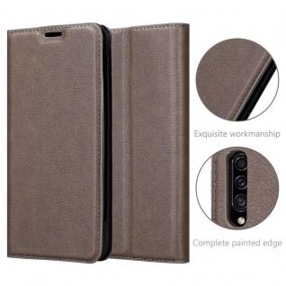 Cadorabo Hülle für Samsung Galaxy A90 5G in KAFFEE BRAUN - Handyhülle mit Magnetverschluss, Standfunktion und Kartenfach - Case Cover Schutzhülle Etui Tasche Book Klapp Style - Vorschau 5