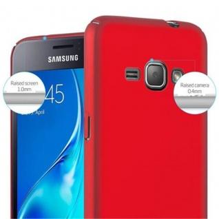 Cadorabo Hülle für Samsung Galaxy J1 2016 in METALL ROT ? Hardcase Handyhülle aus Plastik gegen Kratzer und Stöße ? Schutzhülle Bumper Ultra Slim Back Case Hard Cover - Vorschau 5
