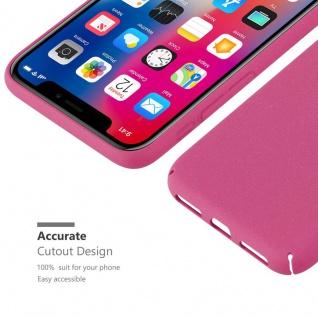 Cadorabo Hülle für Apple iPhone X / XS in FROSTY PINK - Hardcase Handyhülle aus Plastik gegen Kratzer und Stöße - Schutzhülle Bumper Ultra Slim Back Case Hard Cover - Vorschau 3