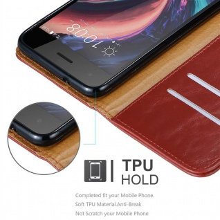 Cadorabo Hülle für HTC Desire 10 PRO in WEIN ROT - Handyhülle mit Magnetverschluss, Standfunktion und Kartenfach - Case Cover Schutzhülle Etui Tasche Book Klapp Style - Vorschau 3