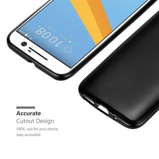 Cadorabo Hülle für HTC 10 (One M10) in METALLIC SCHWARZ - Handyhülle aus flexiblem TPU Silikon - Silikonhülle Schutzhülle Ultra Slim Soft Back Cover Case Bumper - Vorschau 5