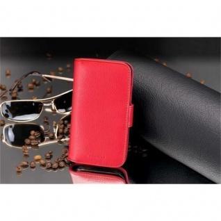Cadorabo Hülle für Samsung Galaxy ALPHA in INFERNO ROT ? Handyhülle mit Magnetverschluss und 3 Kartenfächern ? Case Cover Schutzhülle Etui Tasche Book Klapp Style - Vorschau 3
