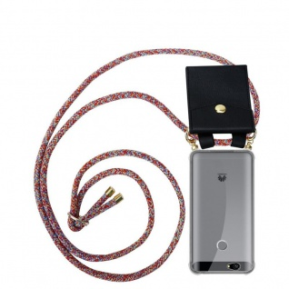 Cadorabo Handy Kette für Huawei NOVA in COLORFUL PARROT - Silikon Necklace Umhänge Hülle mit Gold Ringen, Kordel Band Schnur und abnehmbarem Etui ? Schutzhülle