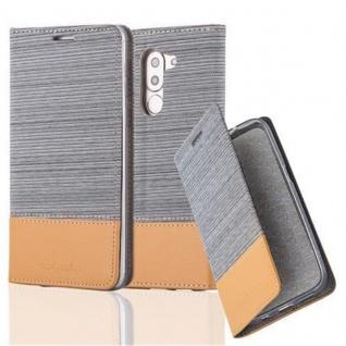Cadorabo Hülle für Honor 6X in HELL GRAU BRAUN - Handyhülle mit Magnetverschluss, Standfunktion und Kartenfach - Case Cover Schutzhülle Etui Tasche Book Klapp Style
