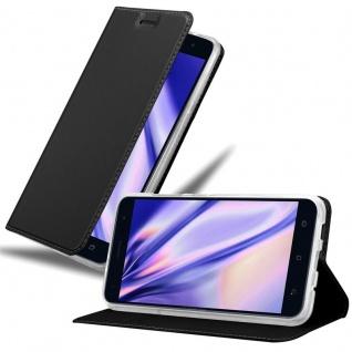 Cadorabo Hülle für Asus ZenFone 3 in CLASSY SCHWARZ - Handyhülle mit Magnetverschluss, Standfunktion und Kartenfach - Case Cover Schutzhülle Etui Tasche Book Klapp Style