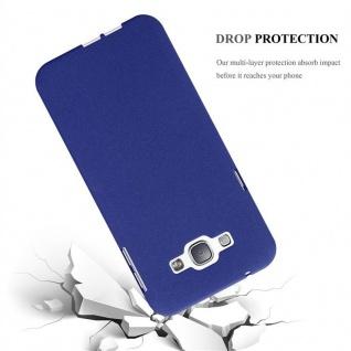 Cadorabo Hülle für Samsung Galaxy A8 2015 in FROST DUNKEL BLAU - Handyhülle aus flexiblem TPU Silikon - Silikonhülle Schutzhülle Ultra Slim Soft Back Cover Case Bumper - Vorschau 4