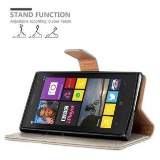 Cadorabo Hülle für Nokia Lumia 1020 in CAPPUCCINO BRAUN ? Handyhülle mit Magnetverschluss, Standfunktion und Kartenfach ? Case Cover Schutzhülle Etui Tasche Book Klapp Style - Vorschau 5