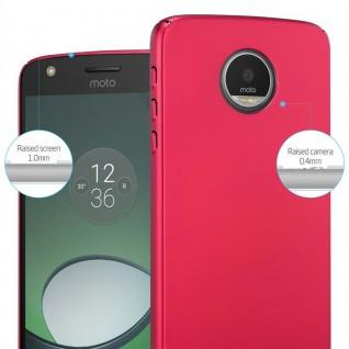 Cadorabo Hülle für Motorola MOTO Z PLAY in METALL ROT ? Hardcase Handyhülle aus Plastik gegen Kratzer und Stöße ? Schutzhülle Bumper Ultra Slim Back Case Hard Cover - Vorschau 4