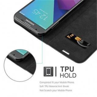 Cadorabo Hülle für Samsung Galaxy J3 2017 US Version in NACHT SCHWARZ - Handyhülle mit Magnetverschluss, Standfunktion und Kartenfach - Case Cover Schutzhülle Etui Tasche Book Klapp Style - Vorschau 2
