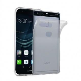 Cadorabo Hülle für Huawei P9 PLUS in VOLL TRANSPARENT - Handyhülle aus flexiblem TPU Silikon - Silikonhülle Schutzhülle Ultra Slim Soft Back Cover Case Bumper