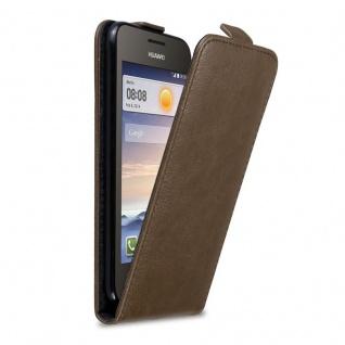 Cadorabo Hülle für Huawei Y330 in KAFFEE BRAUN Handyhülle im Flip Design mit Magnetverschluss Case Cover Schutzhülle Etui Tasche Book Klapp Style