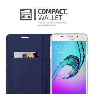 Cadorabo Hülle für Samsung Galaxy A5 2016 in CLASSY DUNKEL BLAU - Handyhülle mit Magnetverschluss, Standfunktion und Kartenfach - Case Cover Schutzhülle Etui Tasche Book Klapp Style - Vorschau 3