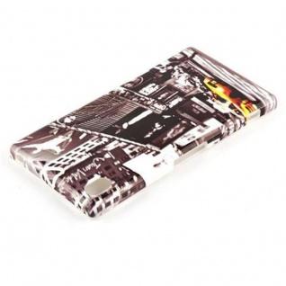 Cadorabo - Hard Cover für Sony Xperia Z1 - Case Cover Schutzhülle Bumper im Design: NEW YORK CAB - Vorschau 3