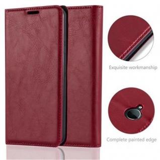 Cadorabo Hülle für Nokia Lumia 650 in APFEL ROT Handyhülle mit Magnetverschluss, Standfunktion und Kartenfach Case Cover Schutzhülle Etui Tasche Book Klapp Style - Vorschau 2