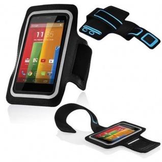 Cadorabo - Neopren Smartphone Sport Armband Fitnessstudio Jogging Armband Oberarmtasche kompatibel mit 3.7 - 4.5 Zoll Handys wie z. B. Apple iPhone 4, 5, Nokia Lumia 620 , Sony Xperia E, Samsung Galaxy ACE 2, HTC ONE V usw. mit Schlüsselfach und