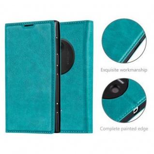 Cadorabo Hülle für Nokia Lumia 1020 in PETROL TÜRKIS - Handyhülle mit Magnetverschluss, Standfunktion und Kartenfach - Case Cover Schutzhülle Etui Tasche Book Klapp Style - Vorschau 2