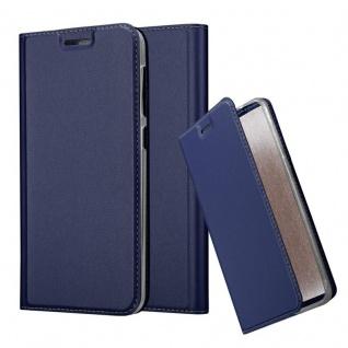 Cadorabo Hülle für HTC Desire 10 Lifestyle / Desire 825 in CLASSY DUNKEL BLAU - Handyhülle mit Magnetverschluss, Standfunktion und Kartenfach - Case Cover Schutzhülle Etui Tasche Book Klapp Style