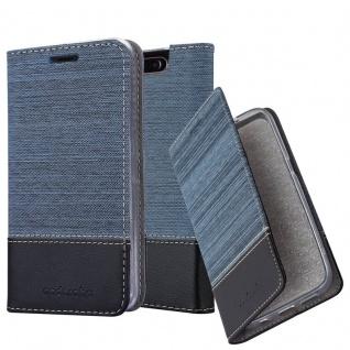Cadorabo Hülle für Samsung Galaxy A80 in DUNKEL BLAU SCHWARZ - Handyhülle mit Magnetverschluss, Standfunktion und Kartenfach - Case Cover Schutzhülle Etui Tasche Book Klapp Style