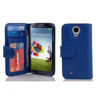Cadorabo Hülle für Samsung Galaxy S4 in KÖNIGS BLAU ? Handyhülle mit Magnetverschluss und 3 Kartenfächern ? Case Cover Schutzhülle Etui Tasche Book Klapp Style