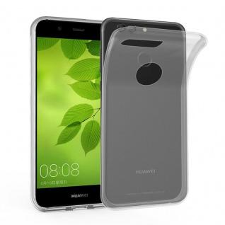 Cadorabo Hülle für Huawei NOVA 2 in VOLL TRANSPARENT - Handyhülle aus flexiblem TPU Silikon - Silikonhülle Schutzhülle Ultra Slim Soft Back Cover Case Bumper