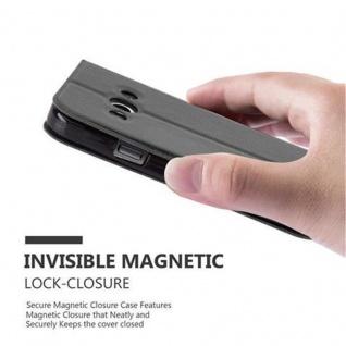 Cadorabo Hülle für Samsung Galaxy XCOVER 3 in KOMETEN SCHWARZ ? Handyhülle mit Magnetverschluss, Standfunktion und 2 Sichtfenstern ? Case Cover Schutzhülle Etui Tasche Book Klapp Style - Vorschau 5