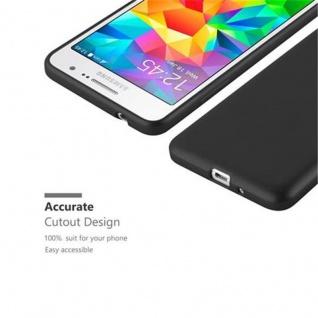 Cadorabo Hülle für Samsung Galaxy GRAND PRIME in METALLIC SCHWARZ - Handyhülle aus flexiblem TPU Silikon - Silikonhülle Schutzhülle Ultra Slim Soft Back Cover Case Bumper - Vorschau 2