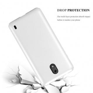 Cadorabo Hülle für Nokia 2 2017 in METALL SILBER ? Hardcase Handyhülle aus Plastik gegen Kratzer und Stöße ? Schutzhülle Bumper Ultra Slim Back Case Hard Cover - Vorschau 3