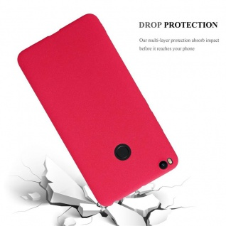Cadorabo Hülle für Xiaomi Mi Max 2 in FROST ROT - Handyhülle aus flexiblem TPU Silikon - Silikonhülle Schutzhülle Ultra Slim Soft Back Cover Case Bumper - Vorschau 3