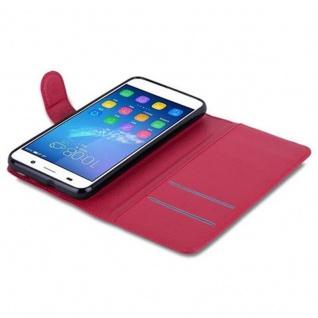 Cadorabo Hülle für Huawei Y6 2015 / Honor 4A in KARMIN ROT - Handyhülle mit Magnetverschluss, Standfunktion und Kartenfach - Case Cover Schutzhülle Etui Tasche Book Klapp Style - Vorschau 2