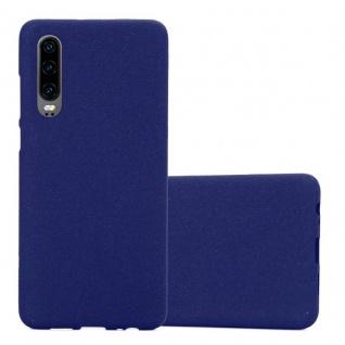 Cadorabo Hülle für Huawei P30 in FROST DUNKEL BLAU - Handyhülle aus flexiblem TPU Silikon - Silikonhülle Schutzhülle Ultra Slim Soft Back Cover Case Bumper