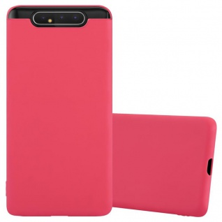 Cadorabo Hülle für Samsung Galaxy A80 / A90 in CANDY ROT Handyhülle aus flexiblem TPU Silikon Silikonhülle Schutzhülle Ultra Slim Soft Back Cover Case Bumper