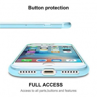 Cadorabo Hülle für Apple iPhone 7 / iPhone 7S / iPhone 8 in TRANSPARENT BLAU - Handyhülle aus flexiblem TPU Silikon - Silikonhülle Schutzhülle Ultra Slim Soft Back Cover Case Bumper - Vorschau 3