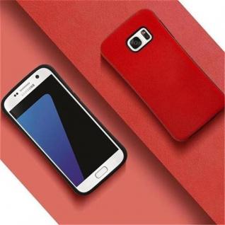 Cadorabo Hülle für Samsung Galaxy S7 - Hülle in FLAMMEN ROT - Small Waist Handyhülle mit rutschfestem Gummi-Rücken - Hard Case TPU Silikon Schutzhülle - Vorschau 4