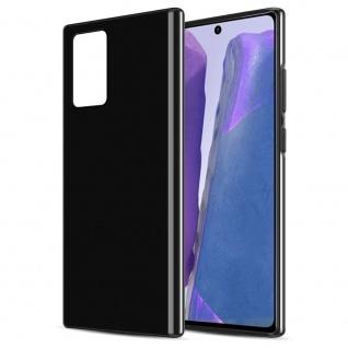 Cadorabo Hülle für Samsung Galaxy NOTE 20 in SCHWARZ Handyhülle aus flexiblem TPU Silikon Silikonhülle Schutzhülle Ultra Slim Soft Back Cover Case Bumper