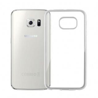 Cadorabo Hülle für Samsung Galaxy S6 EDGE - Hülle in TRANSPARENT mit CHROM SILBER ? Handyhülle aus TPU Silikon im Chrom Design - Silikonhülle Schutzhülle Ultra Slim Soft Back Cover Case Bumper - Vorschau 2