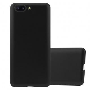 Cadorabo Hülle für OnePlus 5 in METALLIC SCHWARZ - Handyhülle aus flexiblem TPU Silikon - Silikonhülle Schutzhülle Ultra Slim Soft Back Cover Case Bumper