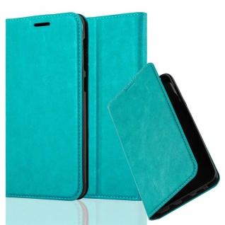 Cadorabo Hülle für HTC Desire 10 LIFESTYLE / Desire 825 in PETROL TÜRKIS - Handyhülle mit Magnetverschluss, Standfunktion und Kartenfach - Case Cover Schutzhülle Etui Tasche Book Klapp Style