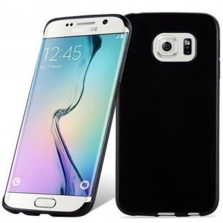 Cadorabo Hülle für Samsung Galaxy S6 EDGE in SCHWARZ - Handyhülle aus flexiblem TPU Silikon - Silikonhülle Schutzhülle Ultra Slim Soft Back Cover Case Bumper